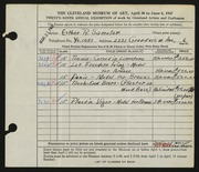Entry card for Samolar, Esther R. for the 1947 May Show.