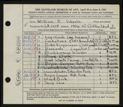 Entry card for Scheele, William E. for the 1947 May Show.