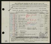 Entry card for Schulke, Harry for the 1947 May Show.