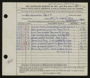 Entry card for Smith, Desdamona for the 1947 May Show.