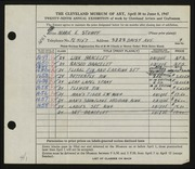 Entry card for Stumpf, Marie E. for the 1947 May Show.