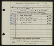 Entry card for Thomas, Dillwyn for the 1947 May Show.