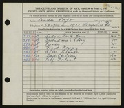 Entry card for Vago, Sandor for the 1947 May Show.