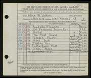 Entry card for Wilkens, Lillian M. for the 1947 May Show.