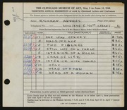 Entry card for Andres, Richard for the 1948 May Show.