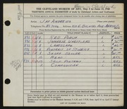 Entry card for Andrews, Jay Kenniston for the 1948 May Show.