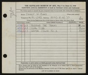 Entry card for Bako, Ernest William for the 1948 May Show.