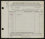 Entry card for Beck, Leonard for the 1948 May Show.