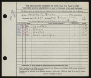 Entry card for Blake, Harold D. for the 1948 May Show.