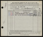 Entry card for Blum, Helaine Dorothy for the 1948 May Show.