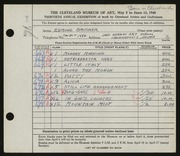 Entry card for Brucker, Edmund for the 1948 May Show.