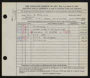 Entry card for Burton, Jack Munson for the 1948 May Show.