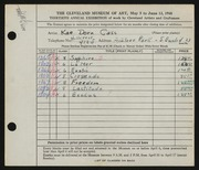 Entry card for Cass, Katherine Dorn for the 1948 May Show.