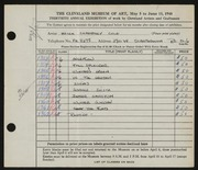 Entry card for Cole, Helen Champney for the 1948 May Show.