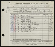 Entry card for Curtis, Floyd Edward for the 1948 May Show.