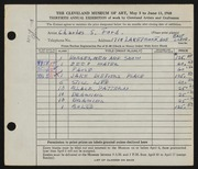 Entry card for Ford, Charles S. for the 1948 May Show.