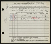Entry card for Frankel, Lillian Berson for the 1948 May Show.