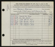 Entry card for Friedman, Marjorie Greenbaum for the 1948 May Show.