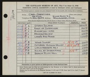 Entry card for Gaertner, Carl Frederick for the 1948 May Show.