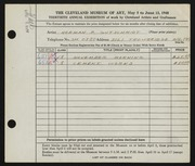 Entry card for Gutschmidt, Normal Paul for the 1948 May Show.