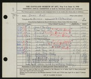 Entry card for Hall, Doris Elizabeth, and Kubinyi, Kalman for the 1948 May Show.
