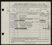 Entry card for Hastings, Peter Paul for the 1948 May Show.