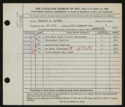 Entry card for Haynes, Francis H. for the 1948 May Show.