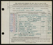 Entry card for Helmuth, Louis W., Sr. for the 1948 May Show.