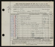 Entry card for Hewit, Mabel A. for the 1948 May Show.