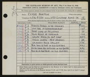 Entry card for Horton, Clyde E. for the 1948 May Show.
