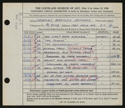 Entry card for Jeffery, Charles Bartley, and Wooddell, Joseph M. for the 1948 May Show.