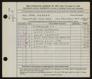 Entry card for Kemeny, John for the 1948 May Show.