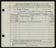 Entry card for Kenyon, Martha E. for the 1948 May Show.