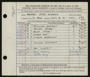 Entry card for Kobasuk, Michael Peter for the 1948 May Show.