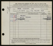 Entry card for Lev, Irene for the 1948 May Show.