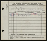Entry card for Mills, Don P. for the 1948 May Show.