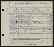 Entry card for Morrison, Doris C. for the 1948 May Show.
