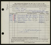 Entry card for Mosgo, Ethel G. for the 1948 May Show.