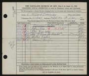 Entry card for Owensby, L. Millard for the 1948 May Show.