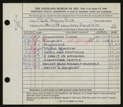 Entry card for Peck, Edith Hogen for the 1948 May Show.
