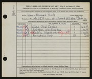 Entry card for Peck, James Edward for the 1948 May Show.