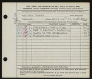 Entry card for Poirier, Jesse A. for the 1948 May Show.