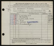 Entry card for Rebman, Herbert for the 1948 May Show.