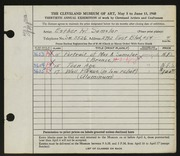 Entry card for Samolar, Esther R. for the 1948 May Show.
