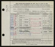 Entry card for Sawhill, Richard for the 1948 May Show.