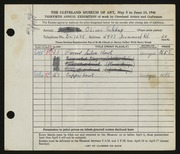 Entry card for Schaaf, Oliver for the 1948 May Show.