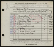 Entry card for Scheele, William E. for the 1948 May Show.