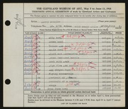 Entry card for Schulke, Harry for the 1948 May Show.