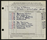 Entry card for Shaw, Elsa Vick for the 1948 May Show.