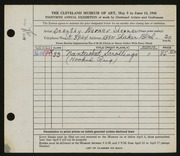 Entry card for Sherman, Dorothy Warner for the 1948 May Show.